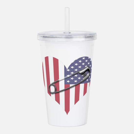 Safety Pin Acrylic Double-Wall Tumbler