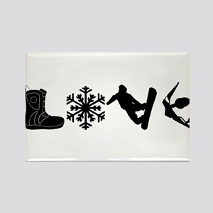 Snowboarding Love Magnets