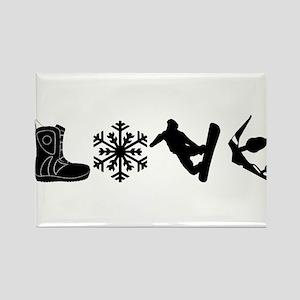 Snowboarding Love Magnets