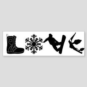 Snowboarding Love Bumper Sticker