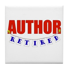 Retired Author Tile Coaster
