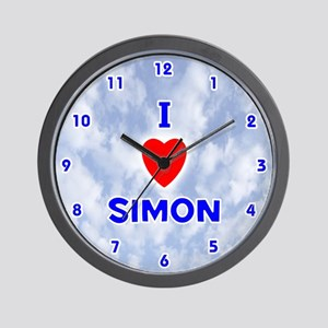 I Love Simon (Blue) Valentine Wall Clock