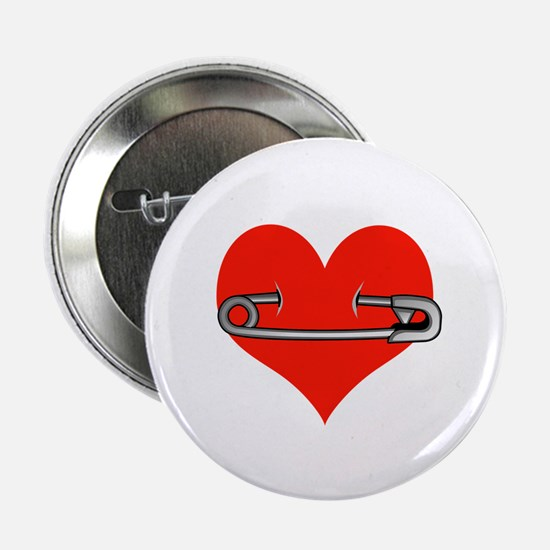 "Safety Pin for love 2.25"" Button"
