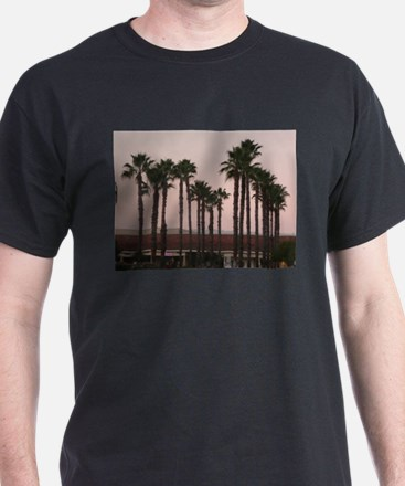 grove of palm trees on A T-Shirt