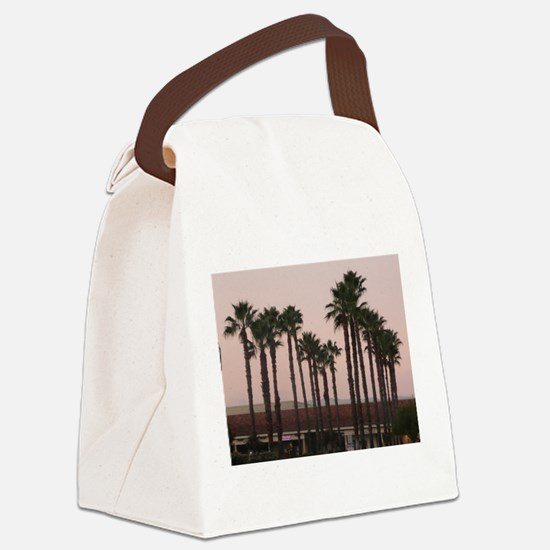 grove of palm trees on A Canvas Lunch Bag