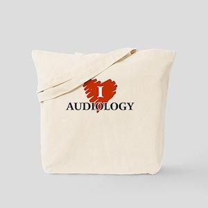 I Love Audiology Tote Bag
