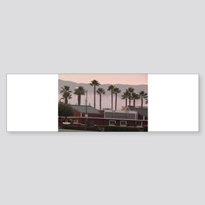 palm trees at shopping c Bumper Sticker
