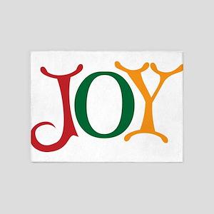 Christmas Holiday Joy 5'x7'Area Rug