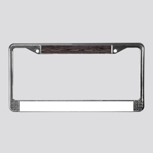 Boarded Up License Plate Frame