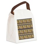Painted Egyptian Hieroglyphics Canvas Lunch Bag