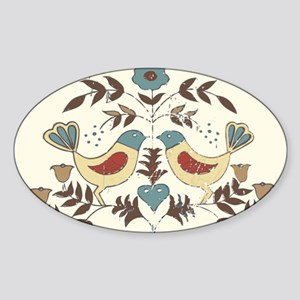 Pennsylvania Dutch Country Birds Design Sticker
