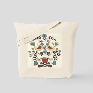 Pennsylvania Dutch Country Birds Design Tote Bag
