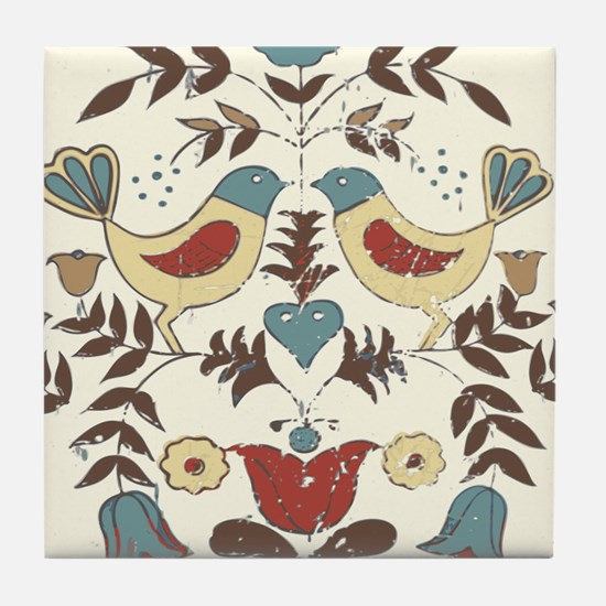 Pennsylvania Dutch Country Birds Design Tile Coast