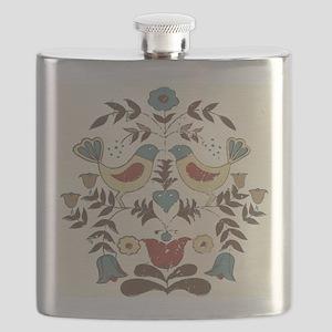 Pennsylvania Dutch Country Birds Design Flask