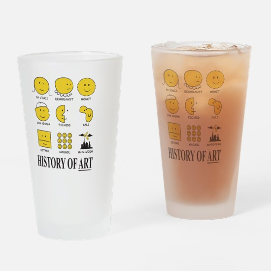 History of Art Smileys Drinking Glass