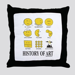 History of Art Smileys Throw Pillow