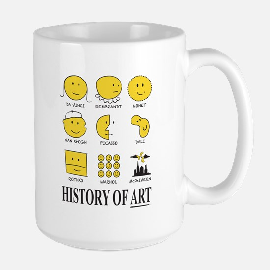 History of Art Smileys Mugs