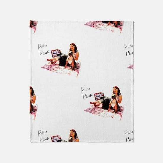 Pittie Picnic 2011 Throw Blanket