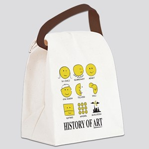 History of Art Smileys Canvas Lunch Bag