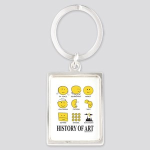 History of Art Smileys Keychains