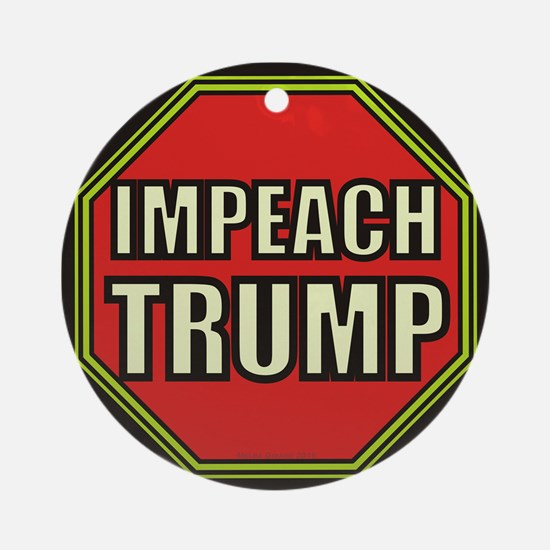 Impeach Trump Round Ornament