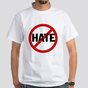 No Hate Allowed White T-Shirt