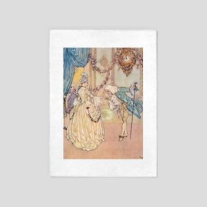 Cinderella Meets the Prince 5'x7'Area Rug