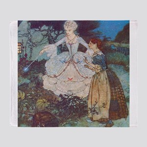Cinderella and Her Fairy Godmother Throw Blanket