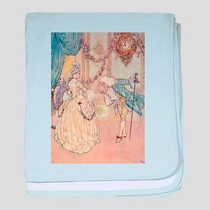 Cinderella Meets the Prince baby blanket