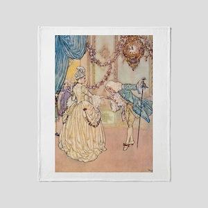 Cinderella Meets the Prince Throw Blanket