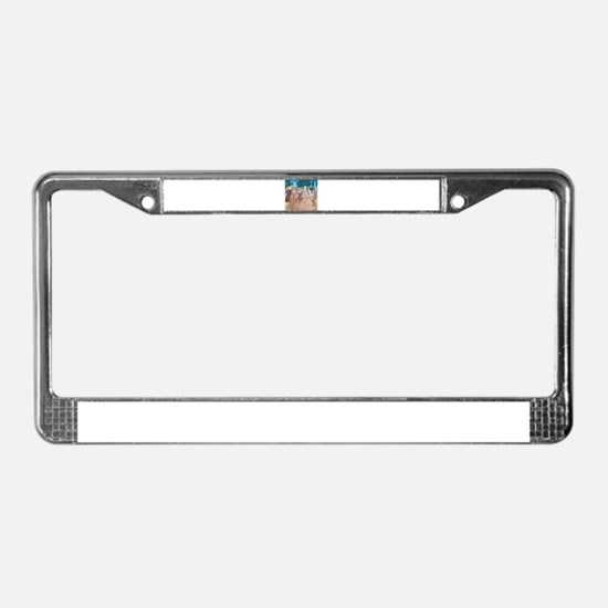 Cinderella and the Prince at t License Plate Frame