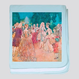 Cinderella and the Prince at the Ball baby blanket