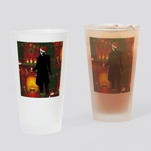 christmas nosferatu Drinking Glass