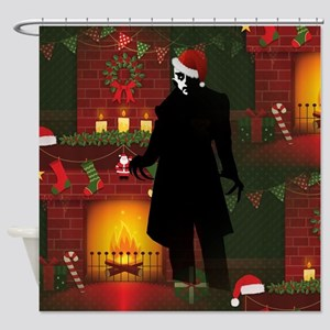 christmas nosferatu Shower Curtain