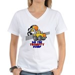 Trumpty Dump Women's V-Neck T-Shirt