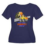 Trumpty Women's Plus Size Scoop Neck Dark T-Shirt