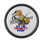 Trumpty Dump Large Wall Clock
