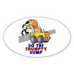 Trumpty Dump Sticker (Oval 10 pk)