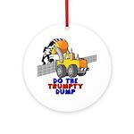 Trumpty Dump Round Ornament
