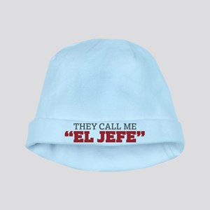 They Call Me El Jefe baby hat
