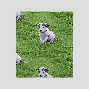 Pit Bull T-Bone Puppy Throw Blanket
