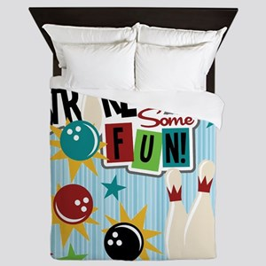 Bowling Sports Fun Queen Duvet
