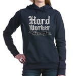 Hard worker : Gets the job done Women's Hooded Swe