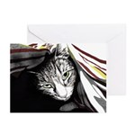 Cat In A Blanket (pk Of 10) Greeting Cards