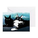 Tuxedo Cat (pk Of 10) Greeting Cards