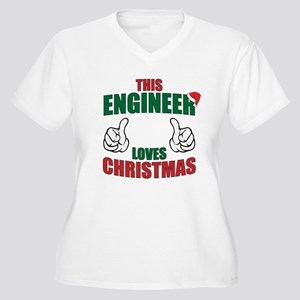 This Engineer Loves Christmas Plus Size T-Shirt