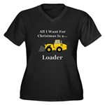 Christmas Lo Women's Plus Size V-Neck Dark T-Shirt