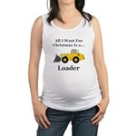 Christmas Loader Maternity Tank Top