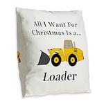 Christmas Loader Burlap Throw Pillow
