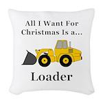 Christmas Loader Woven Throw Pillow